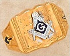 3rd Degree Masonic Open Bible Ring 10KT or 14KT Hollow or Solid Back #49