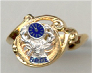 Ladies Past Exulted Ruler or Ladies B.P.O. ELKS Rings 10KT or 14KT Gold #3110