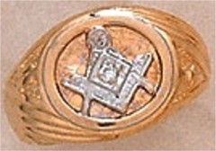 #105A 3rd Degree Masonic Blue Lodge Ring 10KT OR 14KT Hollow Back