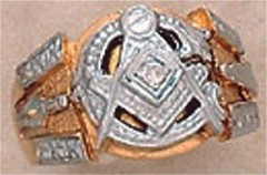 #106A 3rd Degree Masonic Blue Lodge Ring 10KT OR 14KT Hollow Back