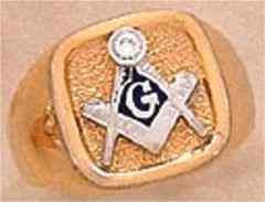 #107A 3rd Degree Masonic Blue Lodge Ring 10KT OR 14KT  Solid Back