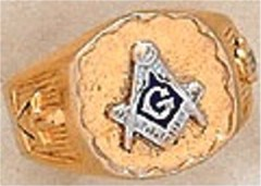 #120A 3rd Degree Masonic Blue Lodge Ring 10KT OR 14KT Hollow Back
