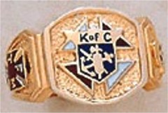 Knights of Columbus Rings,3rd Degree, 10KT or 14KT Gold, Solid Back  #2