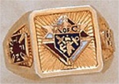 Knights of Columbus Rings, 3rd Degree,10KT or14KT Gold, Solid Back  #5
