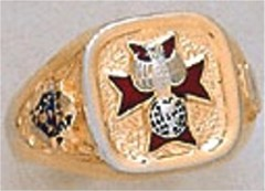 Knights of Columbus Rings, 4th Degree,10KT or 14KT Gold, Solid Back # 7