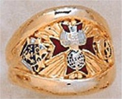 Knights of Columbus Rings, 4th Degree,10KT or 14KT Gold, Solid Back  #9