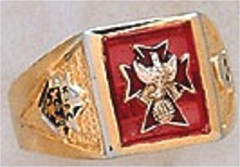 Knights of Columbus Rings, 4th Degree, 10KT or 14KT Gold, Open Back  #11