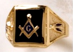 3rd Degree Blue Lodge Masonic Ring 10KT OR 14KT Yellow or White Gold  Solid Back #502