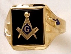 3rd Degree Blue Lodge Masonic Ring 10KT OR 14KT Yellow or White Gold,  Open or Solid Back #512