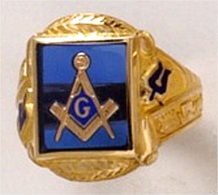 3rd Degree Blue Lodge Masonic Ring 10KT OR 14KT Yellow or White Gold, Open or Solid Back #516