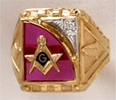 3rd Degree Blue Lodge Masonic Ring 10KT OR 14KT Yellow or White Gold, Open or Solid Back #518