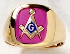 3rd Degree Blue Lodge Masonic Ring 10KT OR 14KT  Yellow or White Gold, Open or Solid Back #515