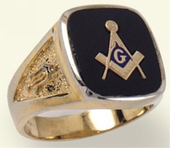 3rd Degree Masonic Blue Lodge Ring 10KTor 14KT, Solid Back #202