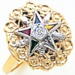 Eastern Star 10KT or 14KT Yellow or White Gold #33