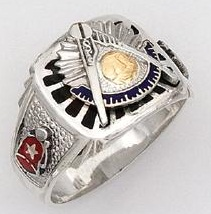Sterling Silver Past Masters Ring Ring Solid Back#22