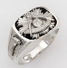 Sterling Silver Past Masters Ring Ring Solid Back#19
