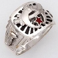 Sterling Silver Shrine Ring Ring Solid Back#32