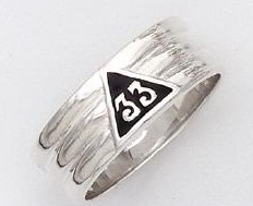 Sterling Silver 33rd Degree Ring #26