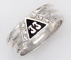 Sterling Silver 33rd Degree Ring #27