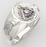 Sterling Silver Past Masters Ring Ring Solid Back#25