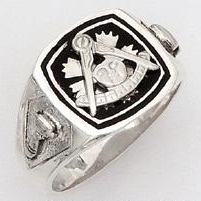 Sterling Silver Past Masters Ring Ring Solid Back#18