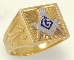 3rd Degree Blue Lodge Masonic Ring  10KT OR 14KT, Solid Back  #11