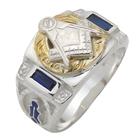 Sterling Silver Masonic Past Master Ring #70