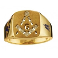 3rd Degree Blue Lodge Masonic Ring 10KT or 14KT YELLOW OR WHITE, Open Back or Solid#405
