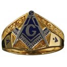3rd Degree Masonic Ring 10KT OR 14KT, Open or Solid Back, White or Yellow Gold #612