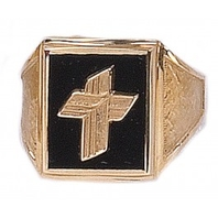 Clergy Rings 10KT or 14KT Yellow or White Gold  Open or Solid Back  #6A