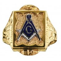 3rd Degree Masonic Ring 10KT OR 14KT, Open or Solid Back, White or Yellow Gold #615