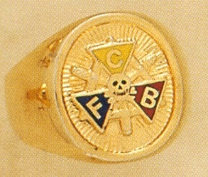 Knights of Pythias Ring, Solid Back, 10KT or 14KT Gold #1