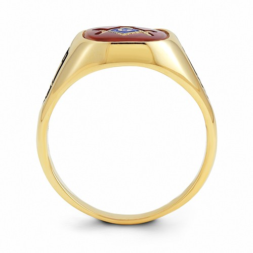 3rd Degree Blue Lodge Masonic Ring, 14K Yellow Gold Open Back #801