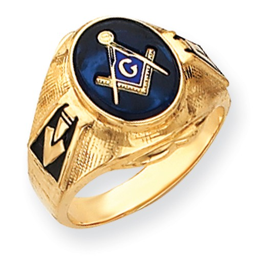 3rd Degree Blue Lodge Masonic Ring 14K Yellow Gold Solid Back #817