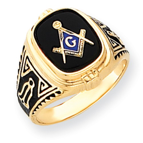3r Degree Blue Lodge Masonic Ring 14K White Gold Solid Back #818