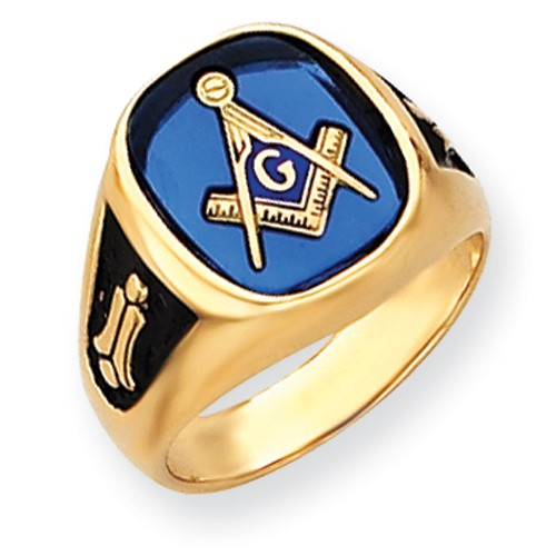 3rd Degree Blue Lodge Masonic Ring 14K Yellow Gold Open Back #810
