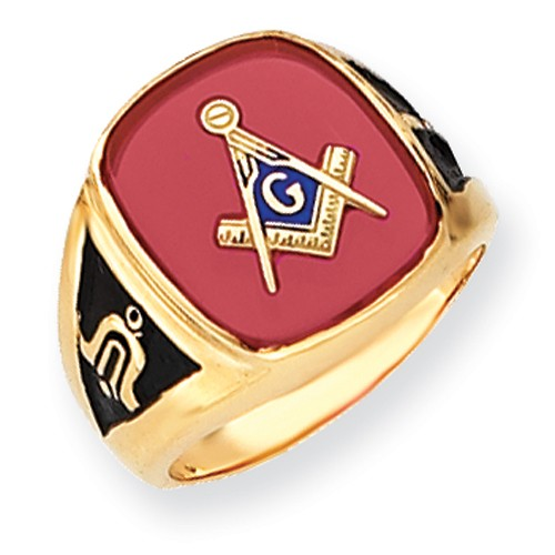 3rd Degree Blue Lodge Masonic Ring 14K Yellow Gold Open Back #805