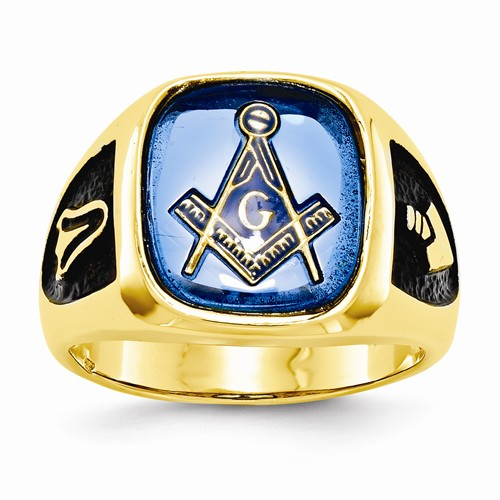 3rd degree Blue Lodge Masonic Ring 14K Yellow Gold Open Back #808