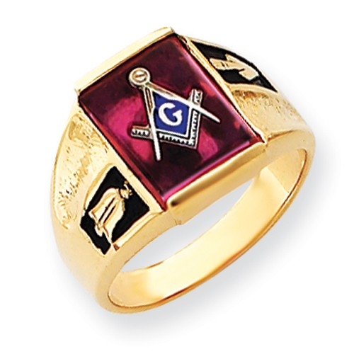 3rd Degree Blue Lodge Masonic Ring, 14K Yellow Gold Open Back #803