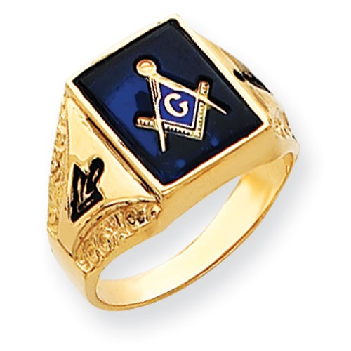 3rd Degree Blue Lodge Masonic Ring 14K Yellow, Solid Back #813