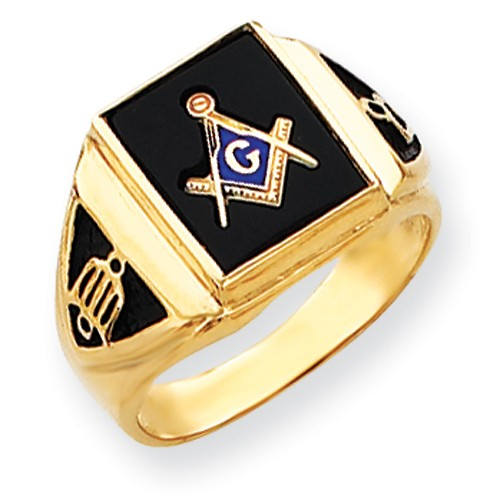 3rd Degree Blue Lodge Masonic Ring 14K Yellow Gold, Open Back  #812